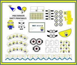 art bug free minion themed party printables