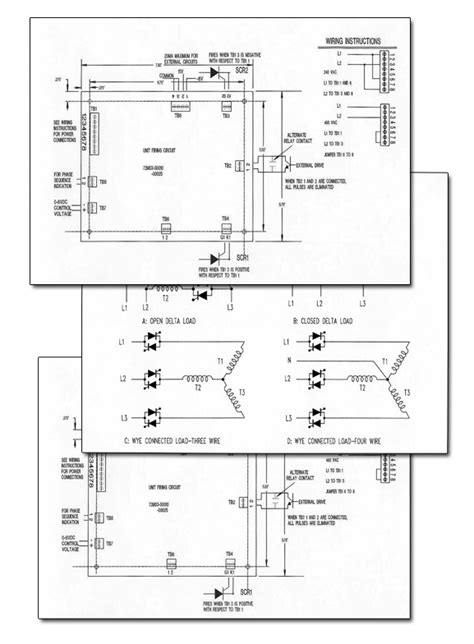 scr firing circuit diagram gemini controls firing circuits