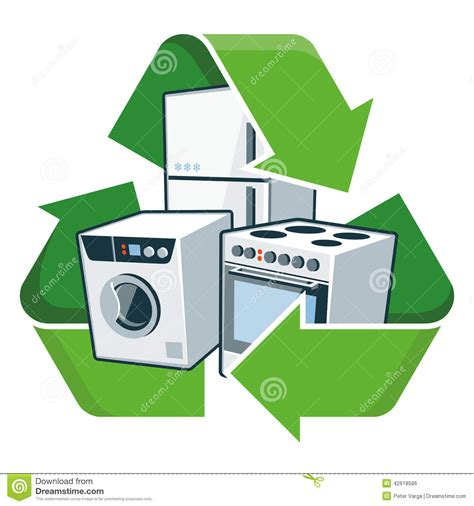 recycle kitchen appliances recycle large electronic appliances stock vector image