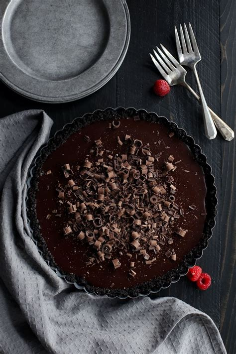 13 Ingredients And Directions Of Raspberry Chocolate Tart Receipt by Raspberry Chocolate Tart Melanie Makes