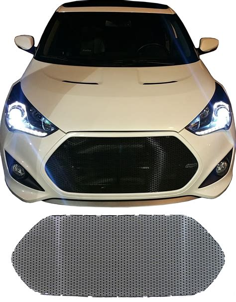 hyundai veloster turbo blacked out ccg black perf ss mesh grill grille insert for a 2012 17
