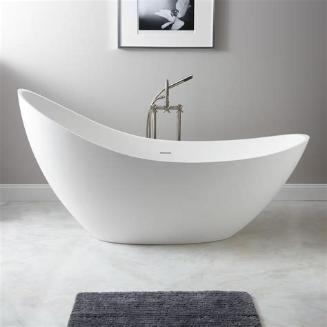 73 quot ballico resin freestanding slipper tub bathroom