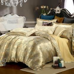 Best Rated Comforters Silk Tencel Satin Jacquard Bed Linen Bedding Set Queen