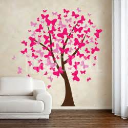 butterflies tree wall decals stickers tattoos large windy decal this features hundreds
