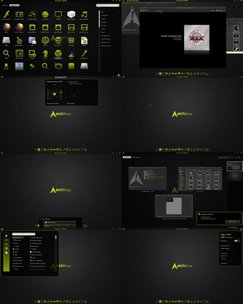 gnome themes more black n green gnome shell theme v1 by craazyt on deviantart