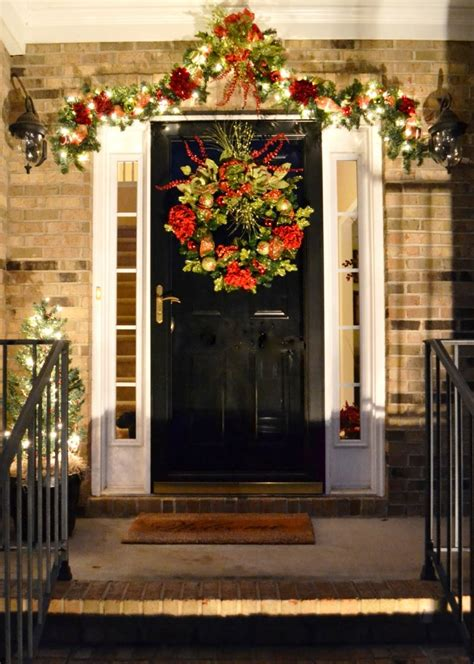 front door entrance decorating ideas 20 christmas front door decoration ideas instaloverz