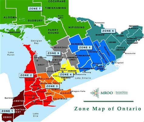 map of ontario home municipal retirees organization ontario