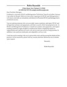 Ac Repair Cover Letter by Best Hvac And Refrigeration Cover Letter Exles Livecareer
