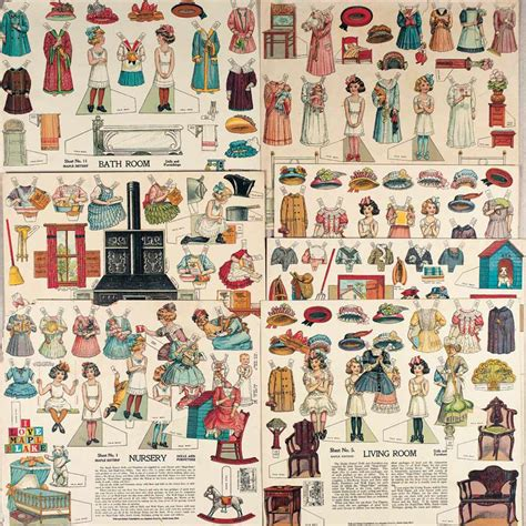 paper doll house paper dolls 1790 1940 the collection of shirley fischer 214 american advertising