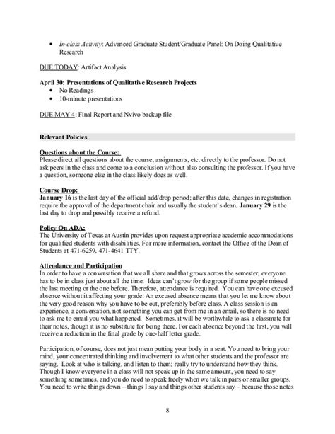 introduction to qualitative research syllabus spring 2014