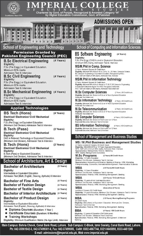 Imperial College Letter Of Recommendation Learing Pak Education Imperial College Is Offering The Admission 2012