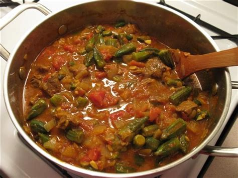 silvia colloca kip persian meat okra stew khoresh bamieh the persian