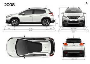 Peugeot Dimensions Peugeot 2008 Dimensions Ext 233 Rieures Et Int 233 Rieures