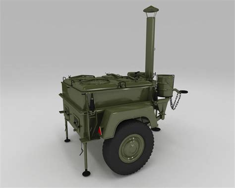 Field Kitchen by Army Field Kitchen 3d Model Max Obj 3ds Fbx