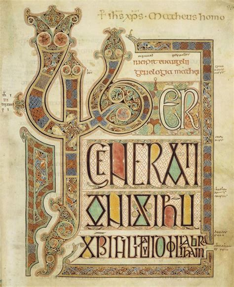 pictures of the book of kells book of kells