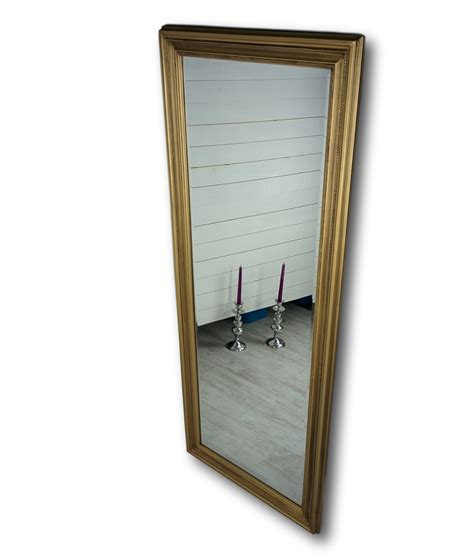 Landhaus Bäder 3799 spiegel gold landhaus 150x60cm holz wandspiegel barock