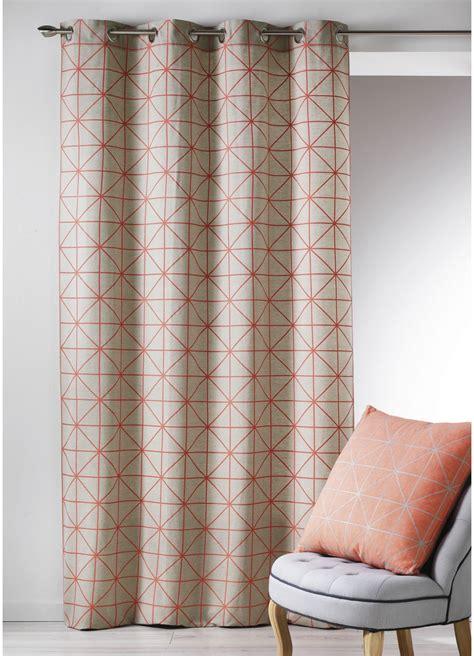 Rideaux Coton by Rideau En Toile De Coton Aux Imprim 233 S Design Corail
