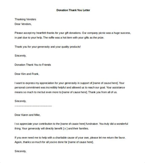 charity letter template donation letter template 26 free word pdf documents