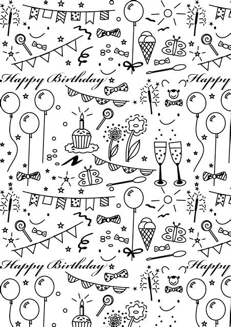 Printable Papers For Card - free printable birthday coloring paper ausdruckbares