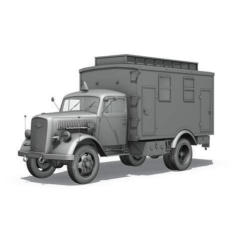 Opel Blitz Truck by Opel Blitz 3t Truck With Ec Koffer 3d Model Buy Opel