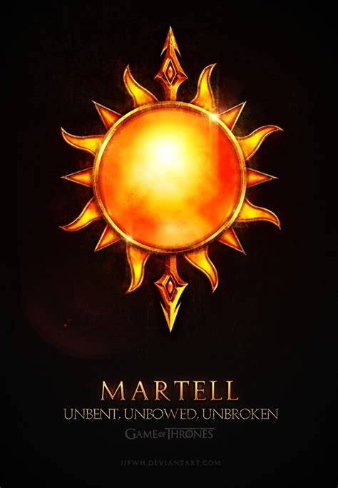martell house game of thrones martell by jjfwh on deviantart