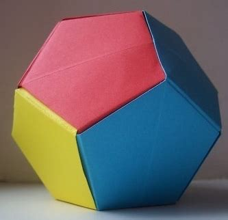 Dodecahedron Paper Folding - make a dodecahedron from a4 paper think maths