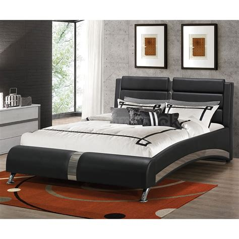black upholstered bed jeremaine upholstered bed black beds bedroom furniture bedroom