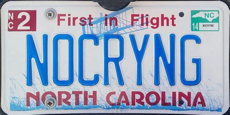 Nc Vanity Plates by Carolina 2 Y2k