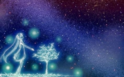 starry night sky girl anime free anime starry night sky wallpaper images at cool