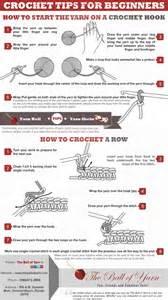 crochet tips for beginners visual ly