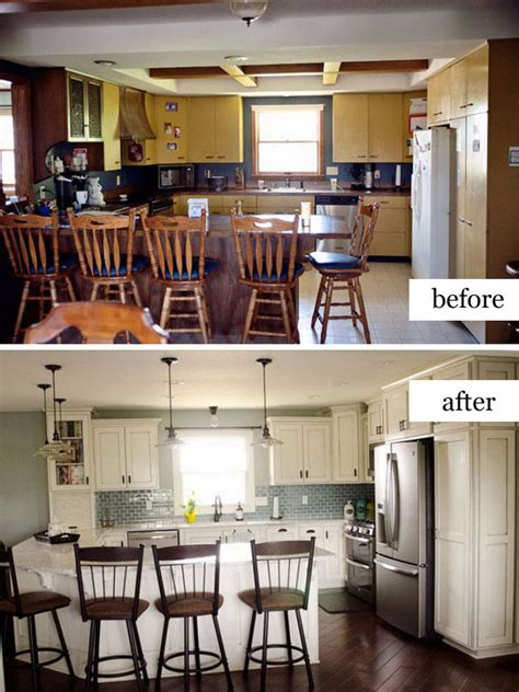 cred dated kitchen becomes bright and open before and pretty before and after kitchen makeovers