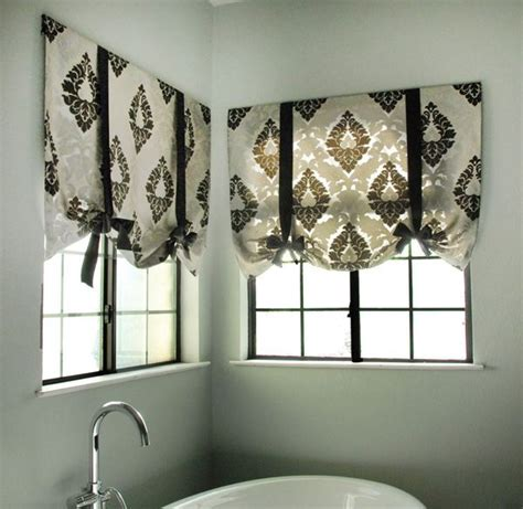 tie up curtain tutorial best 25 bathroom window curtains ideas on pinterest