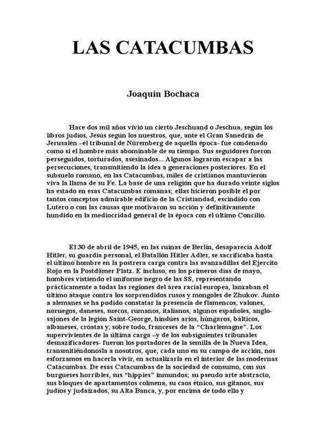 Joaquín Bochaca - Las Catacumbas | Europa | Nazismo