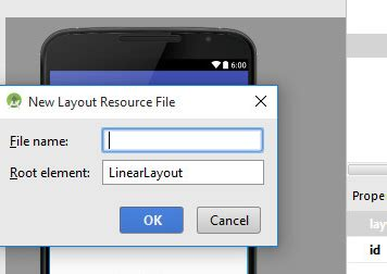 android layout resource unable to customize new layout resource file in android