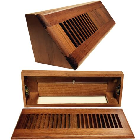 Baseboard Vent Cover   Brazilian Cherry Wood Air Registers