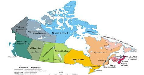 map pf canada the largest and smallest canadian provinces territories by