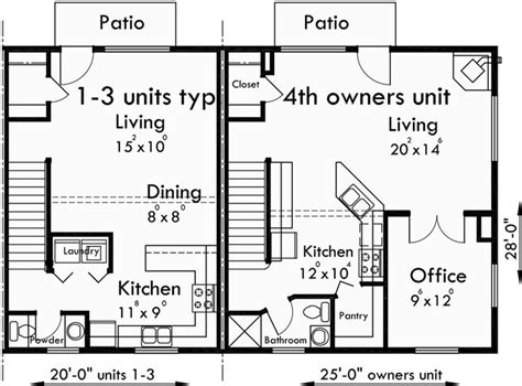 4 plex apartment plans 17 best images about triplex and fourplex house plans on