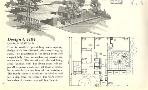 mid century home plans vintage house plans 1184 antique alter ego