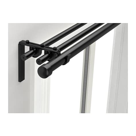 ikea curtain brackets r 196 cka hugad triple curtain rod combination ikea