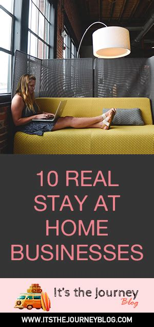 Stay At Home Business by 10 Real Stay At Home Businesses It S The Journey