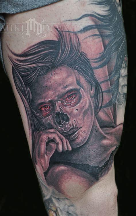 zombie tattoo gallery zombie girl by mike devries tattoonow