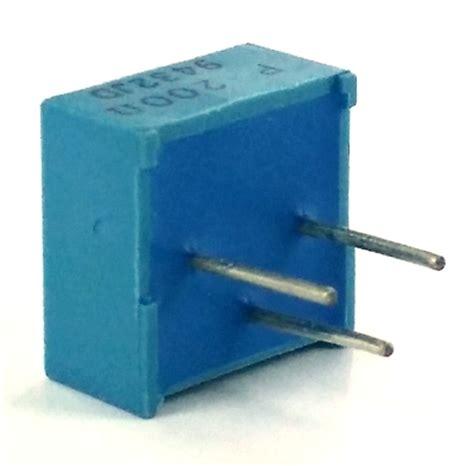 murata resistors 200 ohm trimpot variable resistor murata pot3104p 1 101 west florida components