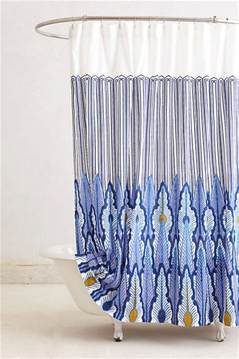 anthro shower curtain peacock quills shower curtain anthropologie com