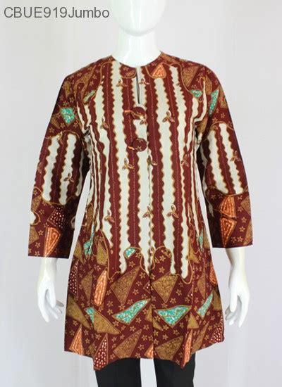 A Betasol Tunik Batik Jumbo atasan wanita tunik batik jumbo blarak 9037 blus lengan panjang murah batikunik