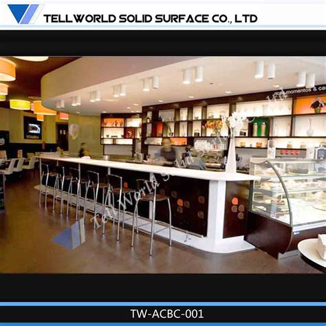 design cafe counter restaurant furniture fast food table bar counter design