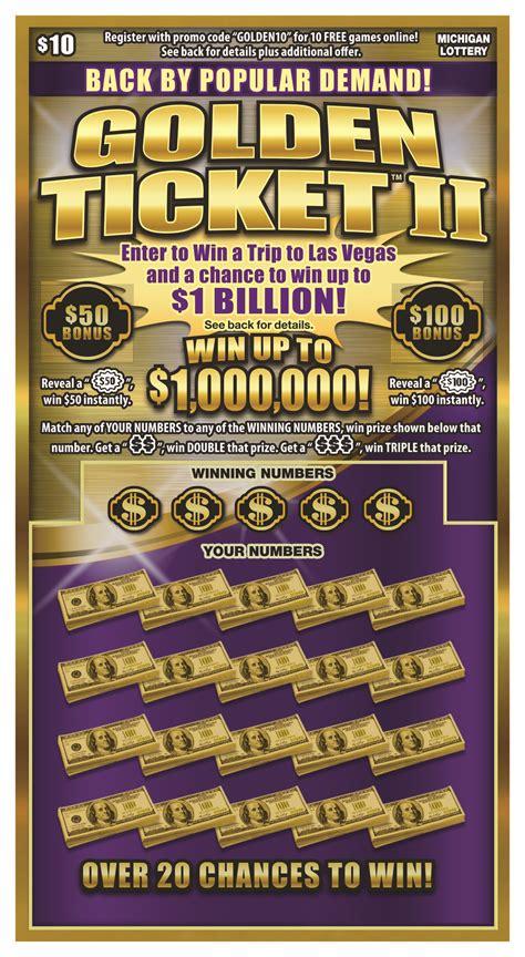 michigan lottery  players chance  win  billion   golden ticket ii