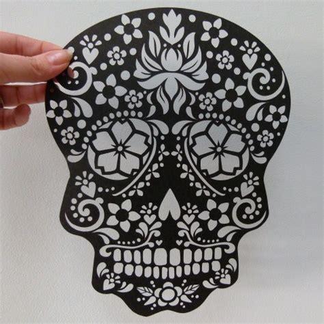sugar skull design template paper cut sugar skull unframed wowthankyou co uk skull