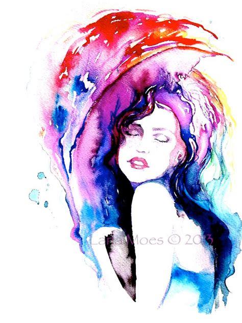 watercolor woman tutorial original watercolor painting artwork woman fashion by lanasart