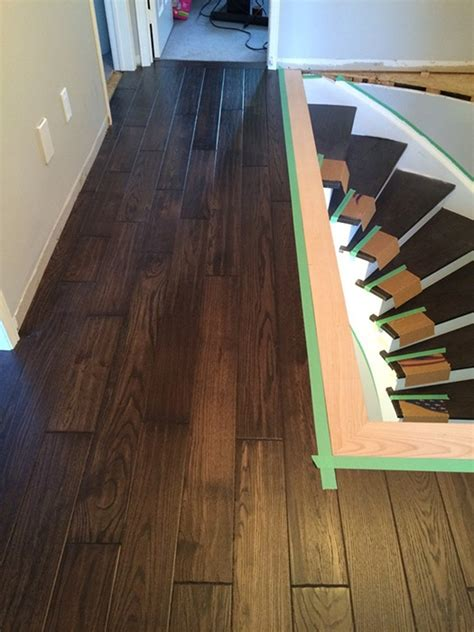 Oak nosing nosing hardwood in Richmond hill   Renew Stairs