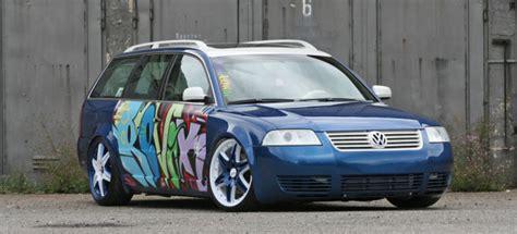 streetart german graffiti  er vw passat die etwas andere kunst auf der strasse auto der